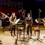 Concierto de SPECTRE QUARTET &  A. C . Banda de música de Bonares en las Noches de Verano.
