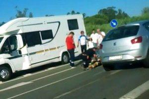 ciclista atropellado en Bonares