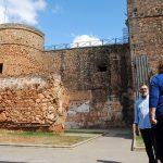 La barbacana del Castillo de Niebla incluida en un proyecto de restauración.