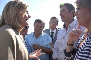 Desde La Plataforma lamentan que la ministra Báñez no haya cumplido con las promesas del trasvase.