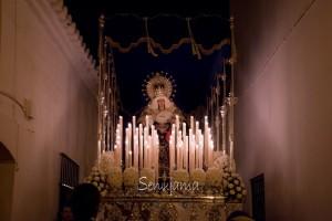 Con la procesión del Santo Entierro se cerró la Semana Santa en Bonares.