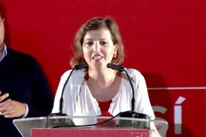 La bonariega Mar Infantes presentó el acto de Pedro Sánchez en Huelva.