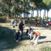 Plantación de árboles, niños nacidos en 2015 en Bonares.