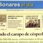 """Nace el Boletín Informativo """"Bonares al día""""."""