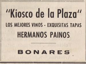 Kiosko de la plaza-hermanos paino 1947