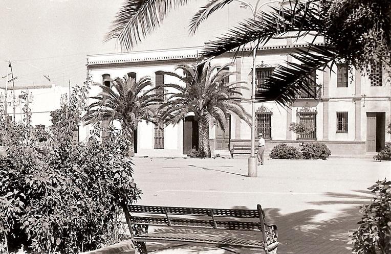 La plaza en el verano de 1961.