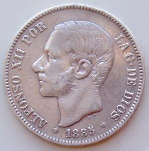 Alfonso XII reinaba en España en 1885.