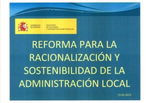 Reforma A. Local Consejo Ministros