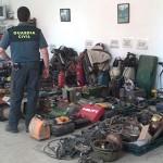 La Guardia Civil recupera en Bonares material procedente de los últimos robos cometidos en el Condado