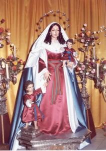 Sta. Mª Salomé vestida de hebrea.