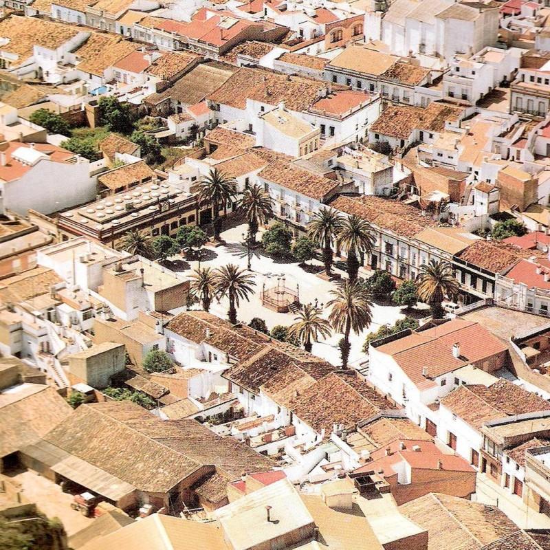 Plaza de Espaa de Bonares vista area