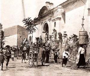 Corpus Bonares principios de siglo XX.