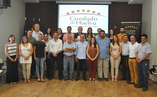 Nueva junta de la Mancomunidad del condado de Huelva.