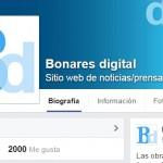 Bonares digital alcanza la cifra de 2.000 fans en nuestra página de Facebook.