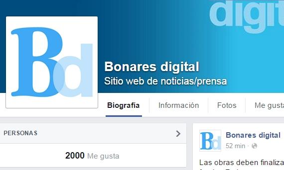 2000 nw gusta en Facebook, Bonares digital.