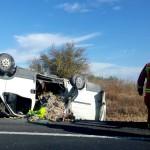 Nuevo accidente en la A-49, a la altura de la salida de Bonares.