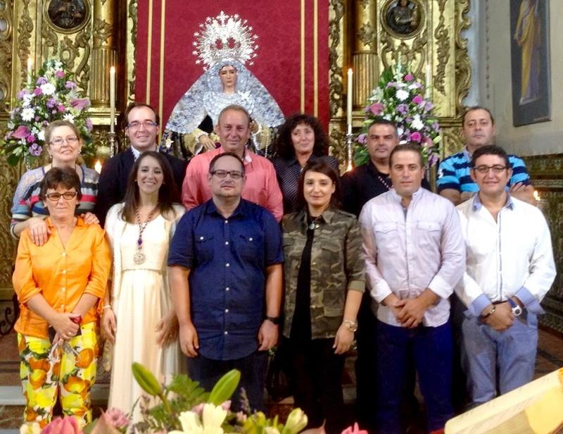 nueva junta de gobierno de la hermandad de Nazarenos de Bonares