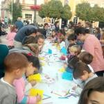 La Plaza de España de Bonares escenario  del Concurso de Postales Navideñas.