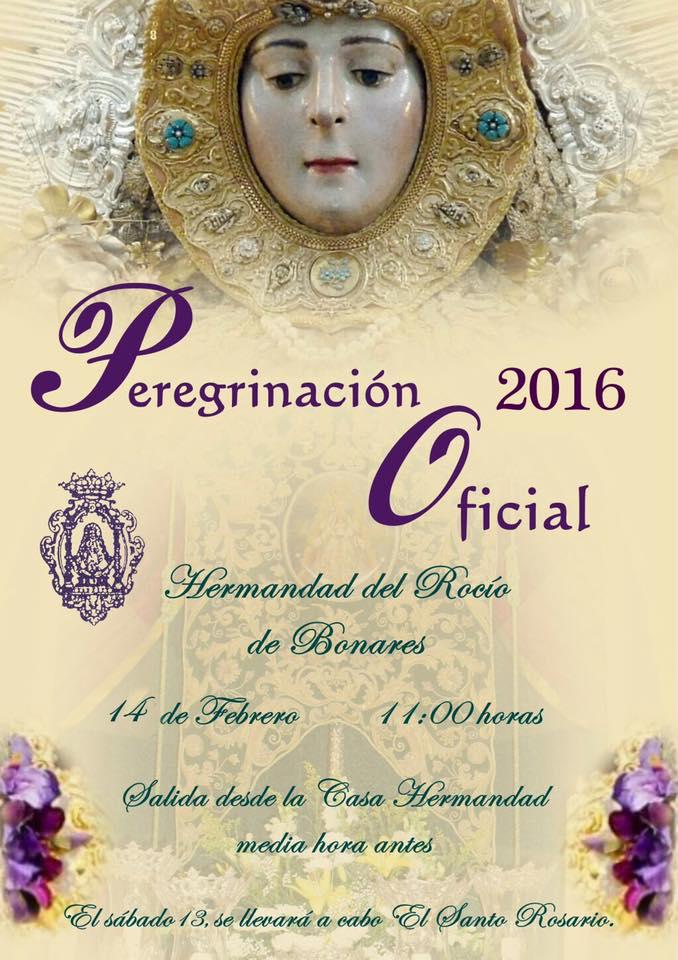 peregrinacion oficial de Bonares al Rocío 2016