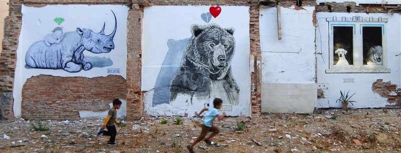 wild welva arte urbano en Huelva
