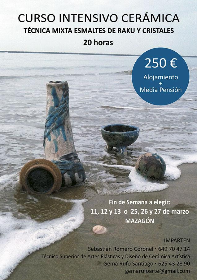 curso de cerámica en Mazagón