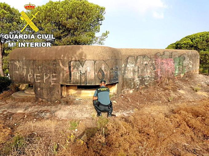 bunker mazagon en llamas