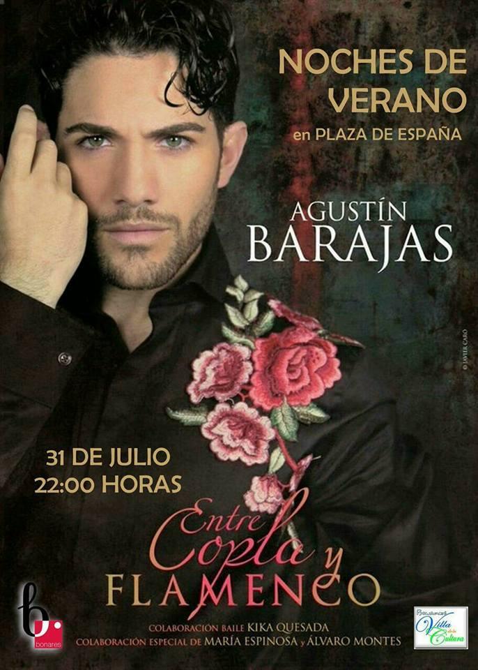 Entre Copla Y Flamenco. Dirigido y protagonizado por Agustín Barajas, con la colaboración especial de María Espinosa (Ganadora Sexta Edición Se llama Copla) y Álvaro Montes (Tercer premio Se llama Copla).