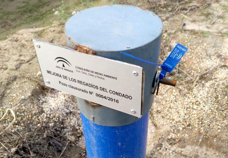 clausura de pozos en Doñana