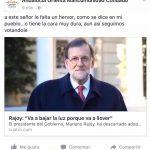 """Disculpas de La Mancomunidad del Condado tras """"insultar"""" a Rajoy en sus redes sociales."""