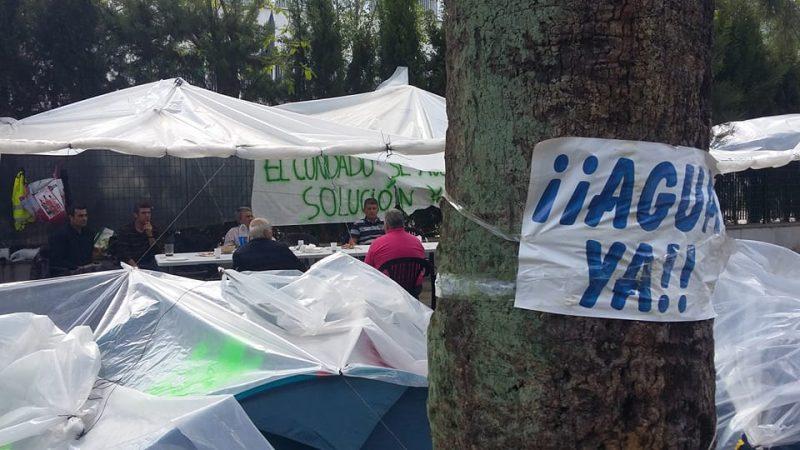 acampada agricultores en Huelva