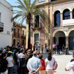 Bonares se manifiesta contra los atentados terroristas de Cataluña.