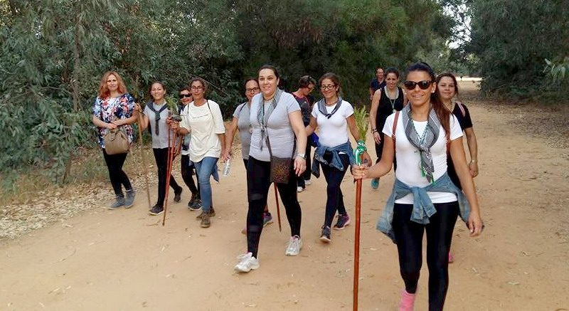 peregrinacion andando al rocio bonares