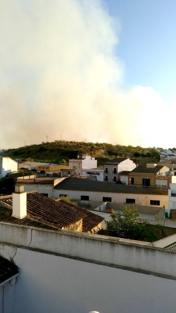 incendio en Bonares