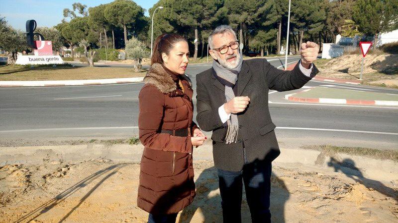 obras carretera de Bonares